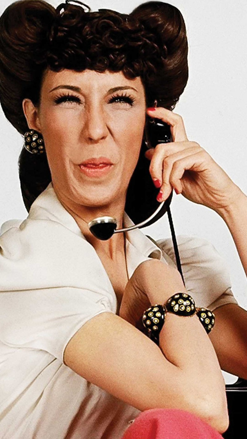 "Ernestine ""The Phone Operator"". First launched on ""Laugh-In""."
