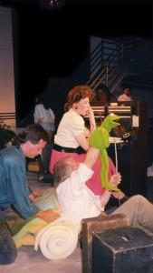 "Ernestine the ""Phone Operator"" on ""Sesame Street"". With creator Jim Henson."